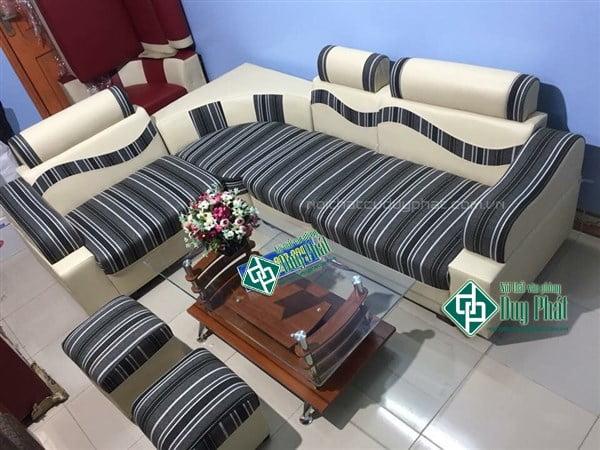 Mẫu sản phẩm thanh lý sofa Thái Nguyên giá rẻ bằng chất liệu da