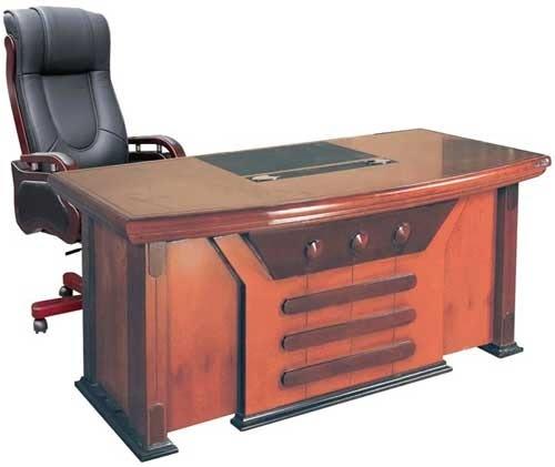 Mẫu bàn giám đốc đẹp cong hình cung