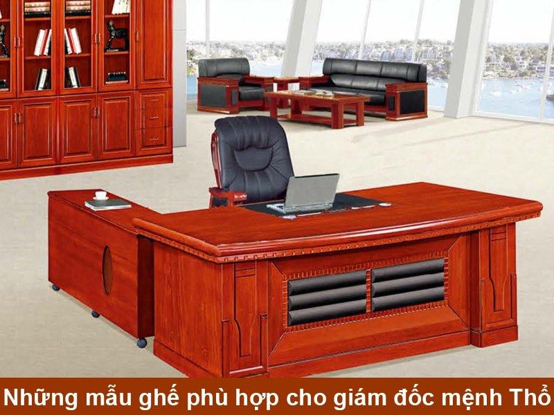 Mẫu bàn giám đốc Mệnh Thổ - Mẫu 03