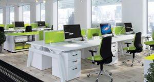 Các mẫu bàn làm việc văn phòng có vách ngăn Mới và Hiện Đại