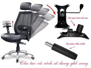 Hướng dẫn cách sử dụng ghế xoay văn phòng bền và đúng nhất