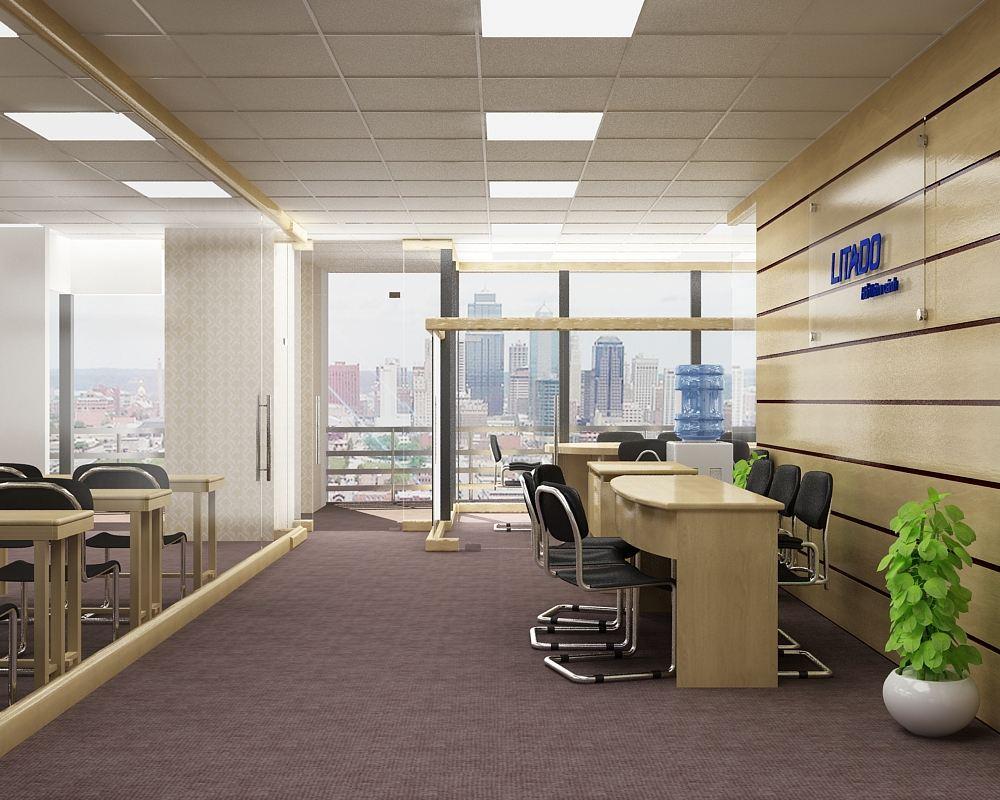 Mẫu thiết kế nội thất văn phòng nhà ống chuyên nghiệp hiện đại