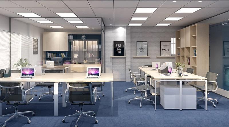Mẫu thiết kế nội thất văn phòng công ty đơn giản