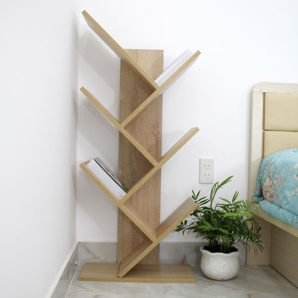 Mẫu thiết kế kệ đứng bằng gỗ