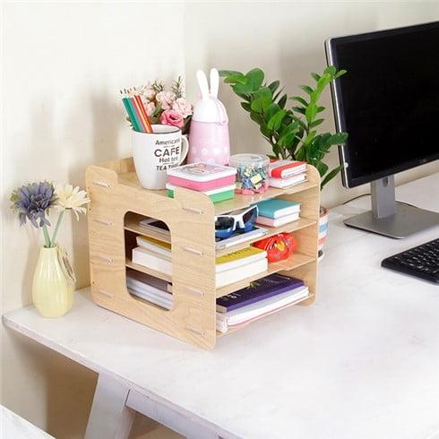 Một số mẫu kệ trang trí bàn làm việc đẹp, ấn tượng
