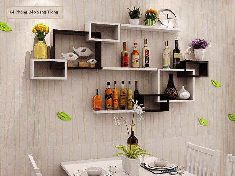 Một số mẫu kệ trang trí phòng ăn gia đình Sang Trọng