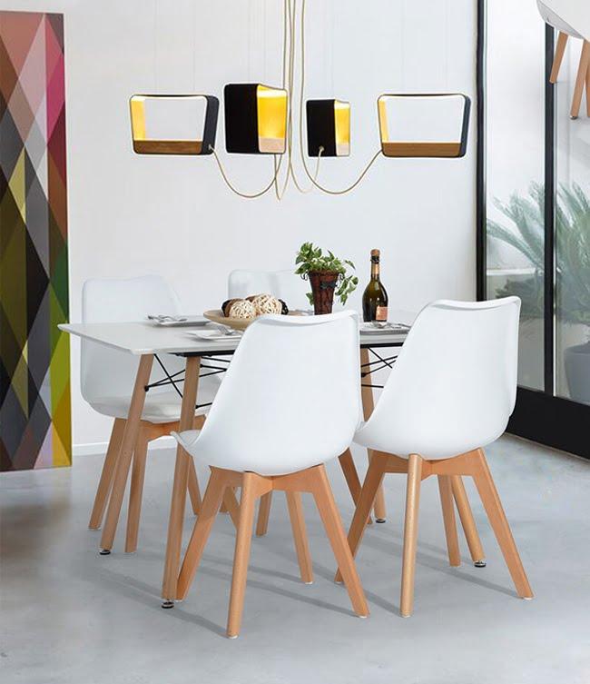 Mẫu bộ bàn ăn 4 ghế tuyệt đẹp cho phòng bếp gia đình