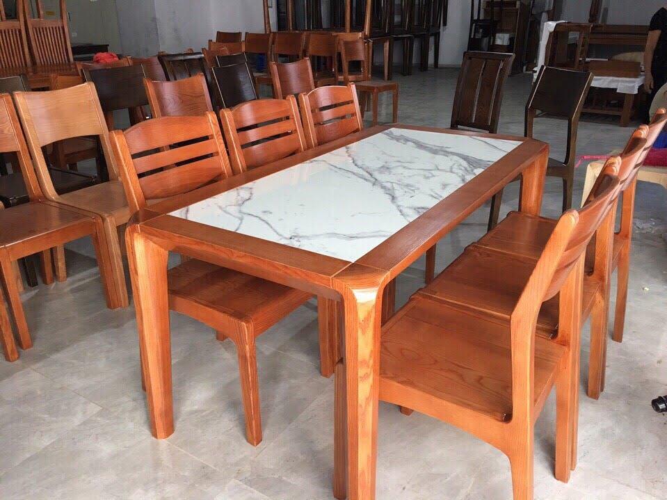 Bộ bàn ăn gỗ sồi tự nhiên Giá Rẻ - Chất lượng tốt nhất