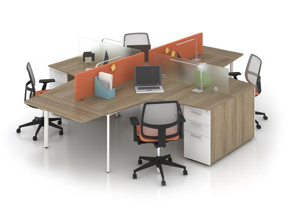 Các mẫu bàn làm việc văn phòng có vách ngăn đẹp hiện đại