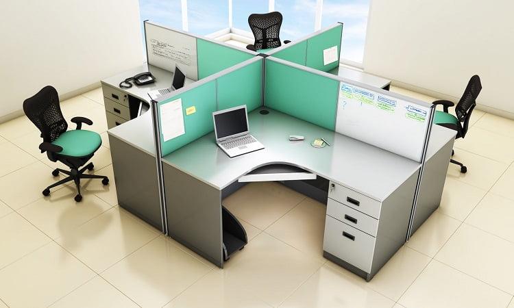 Các mẫu cụm bàn làm việc 4 người được ưa chuộng nhất hiện nay