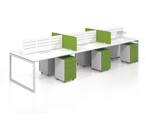 Các mẫu cụm bàn làm việc 6 người hiện đại phù hợp với mọi văn phòng