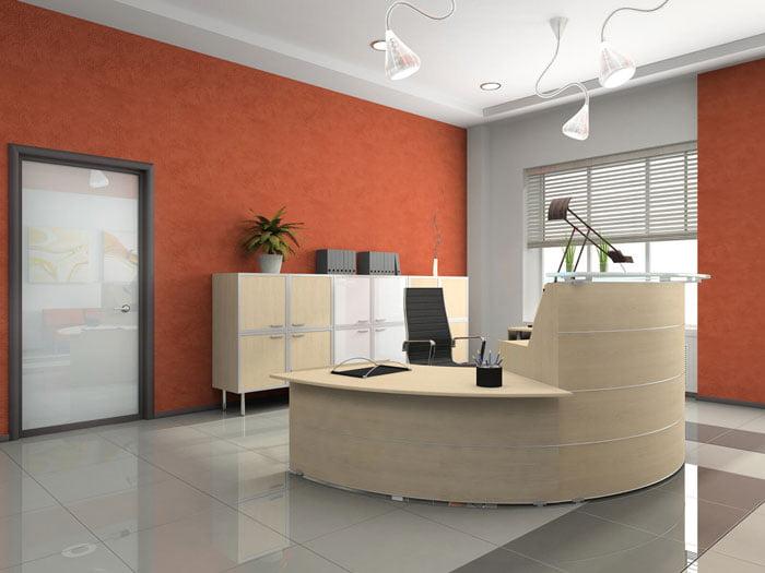 Nguyên tắc thiết kế quầy lễ tân văn phòng vừa đẹp vừa hiện đại